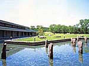 緑に囲まれた愛知県陶磁資料館