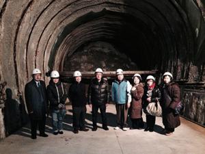 トンネル視察