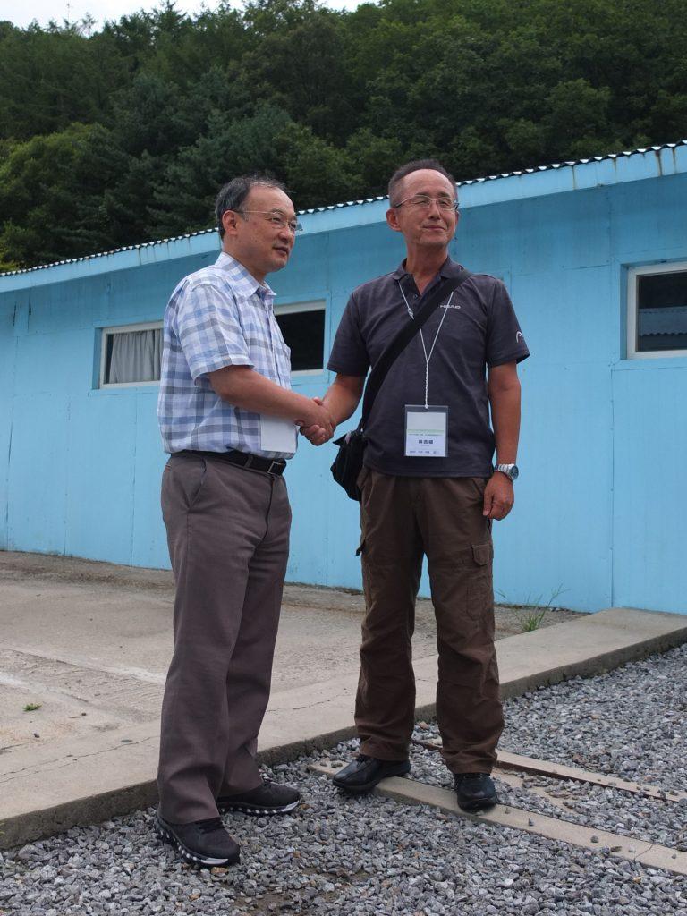 金源植中央本部事務総長と林吉植九州会長