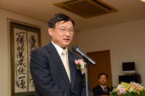 金源植中央本部事務総長の激励の辞