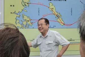 日韓トンネルの説明を伺った