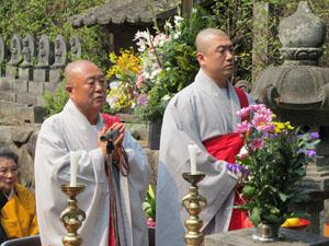 韓国白蓮寺の和尚さん