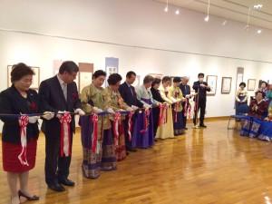 韓国文化院で申師任堂継承者の書画展