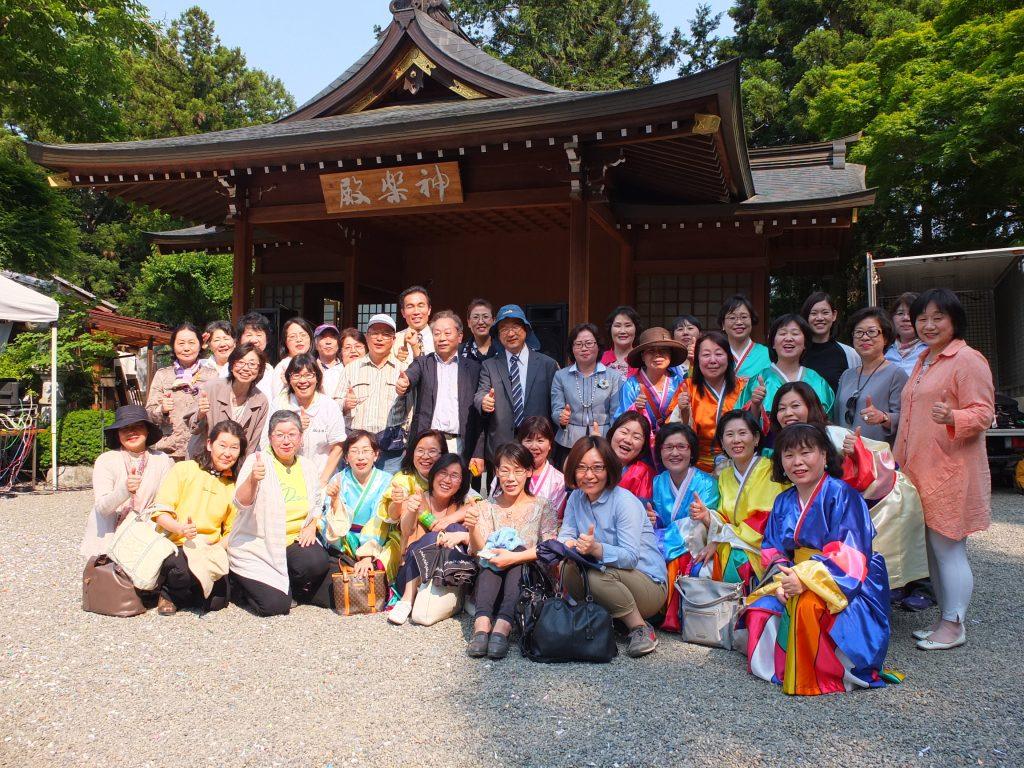 高麗神社で行われた「高麗日韓友好祭」