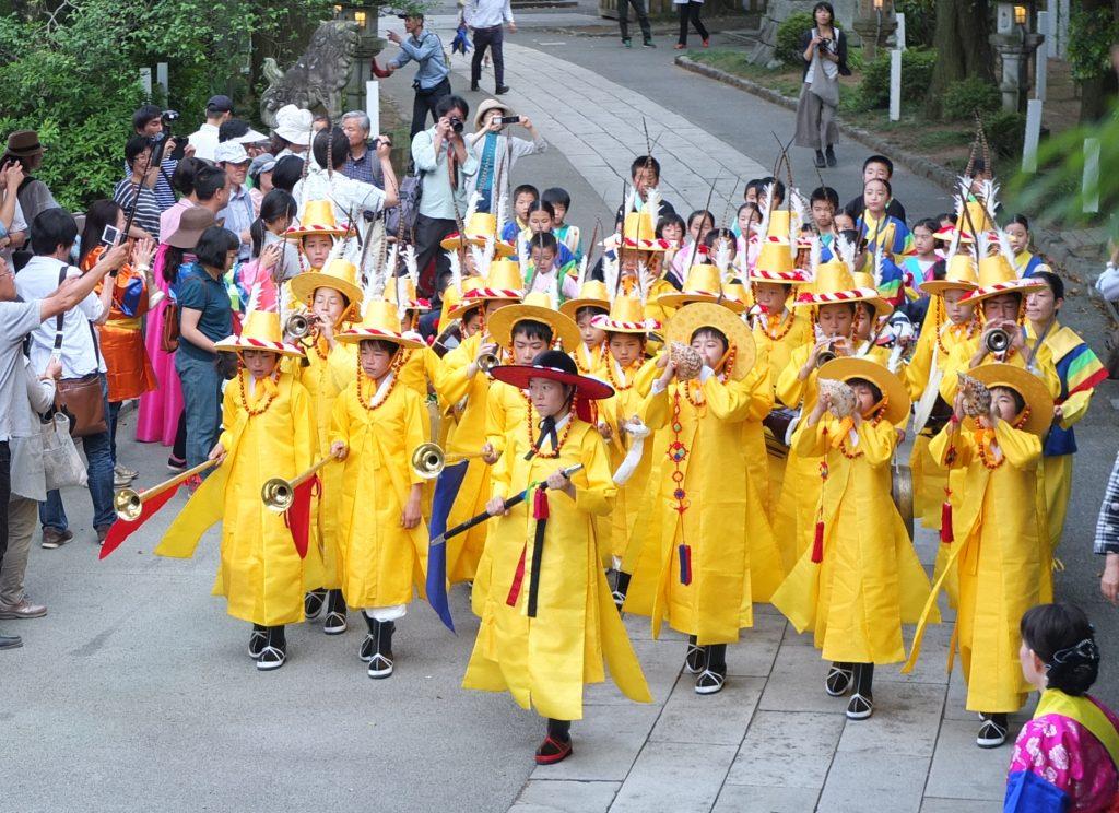 朝鮮通信使を模したパレード