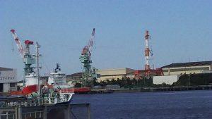 旧鶴見造船所埠頭